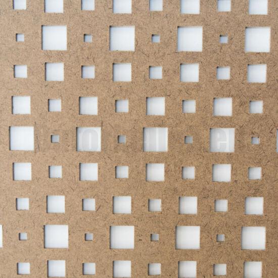 Perforált lemez Grezzo natur Hdf ODIN perforációval 1520x605x3mm