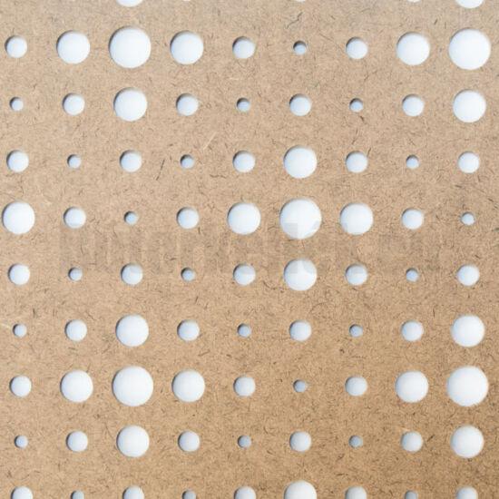 Perforált lemez Grezzo natur Hdf VEGA perforációval 1520x605x3mm