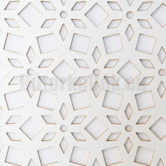 Perforált lemez Laccato-Hdf LILY Krono 101 Fehér 1400x510x3mm