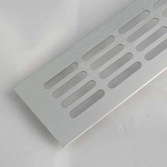 Szellőzőrács szögletes 80x400mm Alumínium