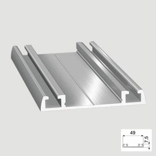 Tolóajtó Cleft alsó Sín 4m Alumínium