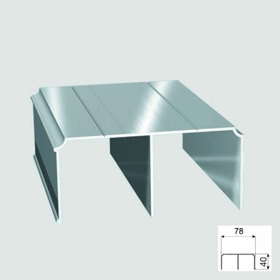Tolóajtó Cleft felső Sín 2m Alumínium